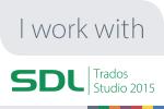 I work with SDL Trados Studio 2015